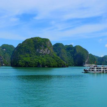 Boat Sailing in Halong Bay