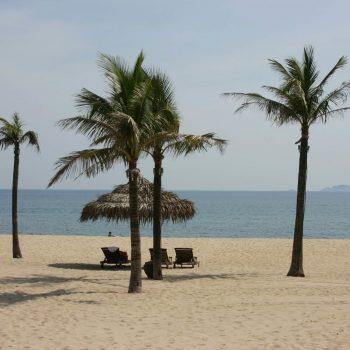 Relaxing sand beach in Hoi An