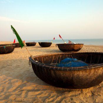 Hoi An beach basket boat