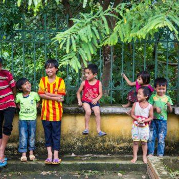 Local Vietnamese children in Sapa mountain village