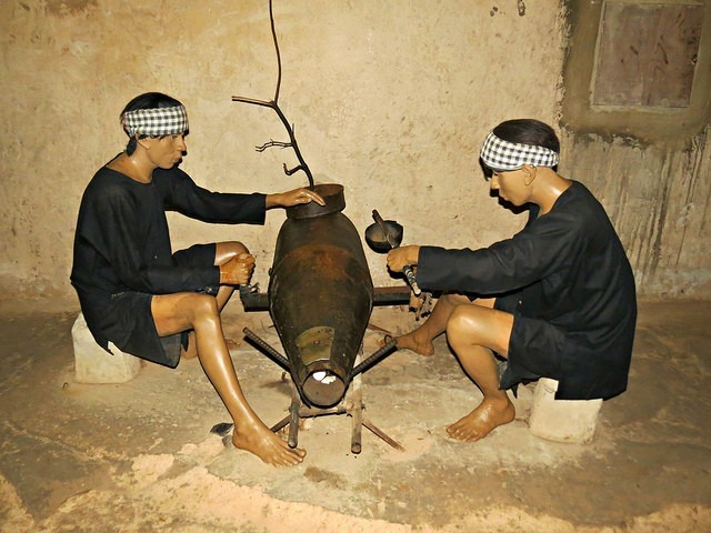 Living in the Cu Chi tunnels