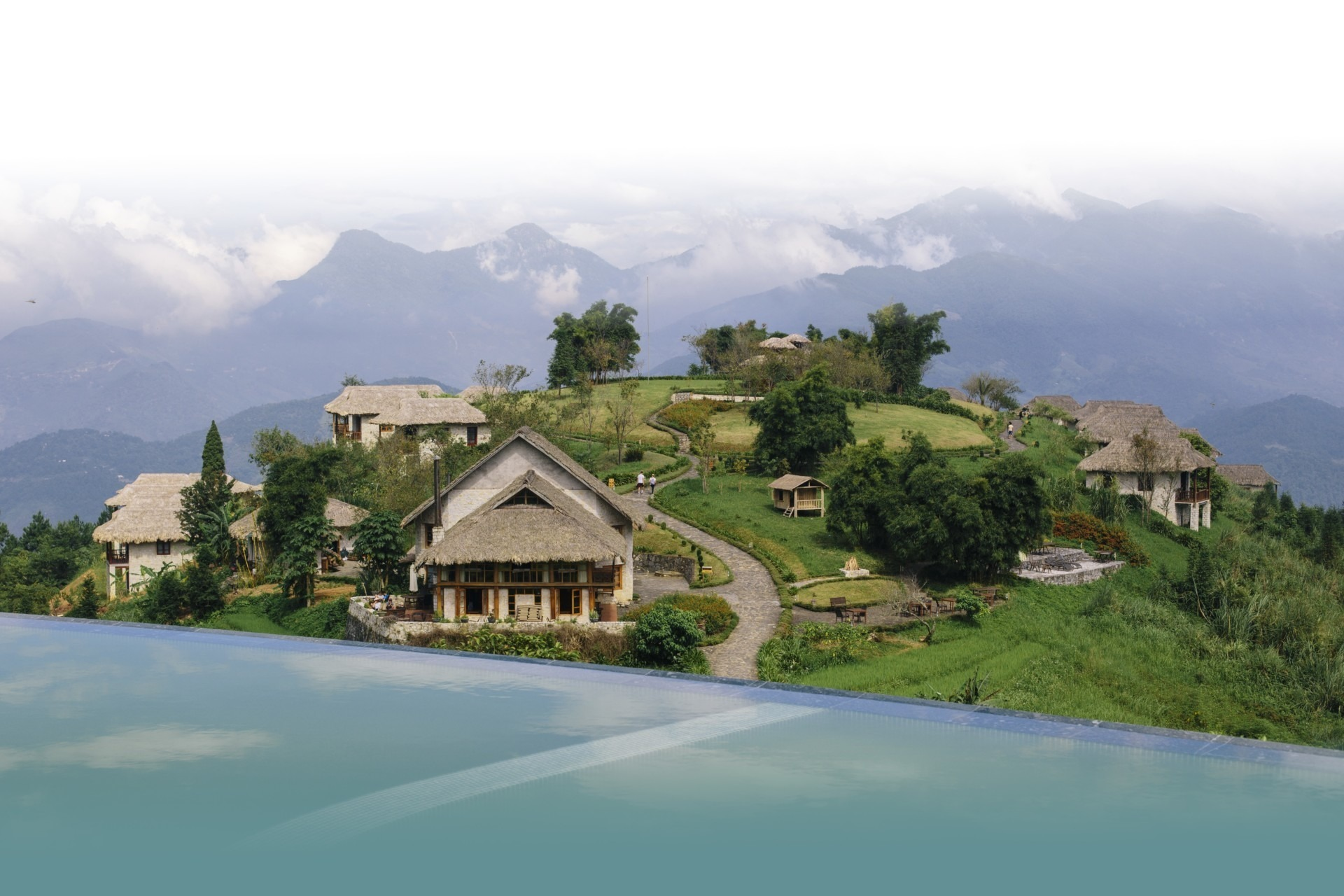 Topas Ecolodge - Sapa - National Geographic Unique Lodges - Pool - faded 2