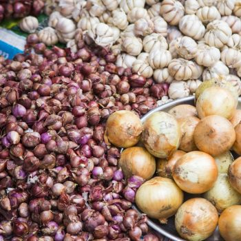 Raw vietnamese ingredients at traditional vietnamese market