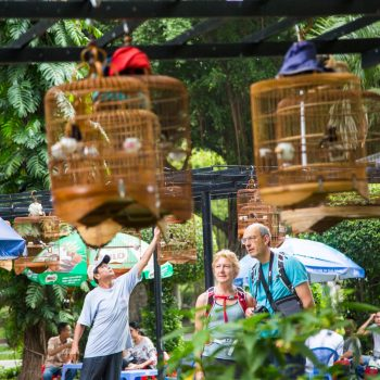 Turists discovering Ho Chi Minh City