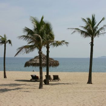 Relaxing sand beach in Hoi An