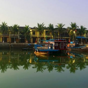 Boat sailing in Hoi An river