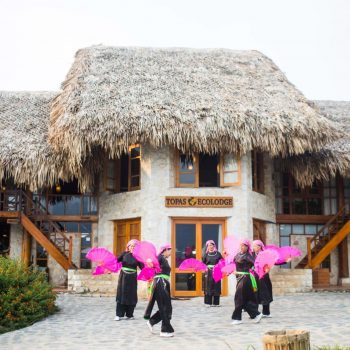Minorities performing traditional dance at Topas Ecolodge