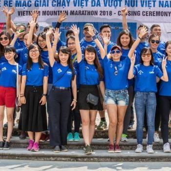 Vietnam Mountain Marathon crew celebrating another succesful event