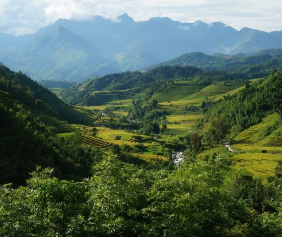 Scenery of beautiful Sapa mountains