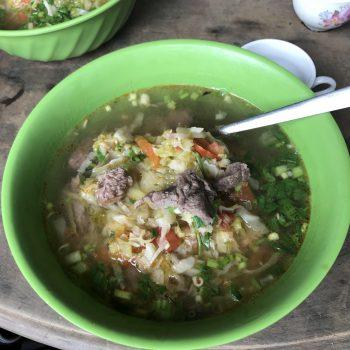 Taste meal in miniority village in Sapa